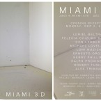 Miami 3D invitation card