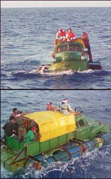 """Ernesto Oroza. """"Camión-barco"""""""
